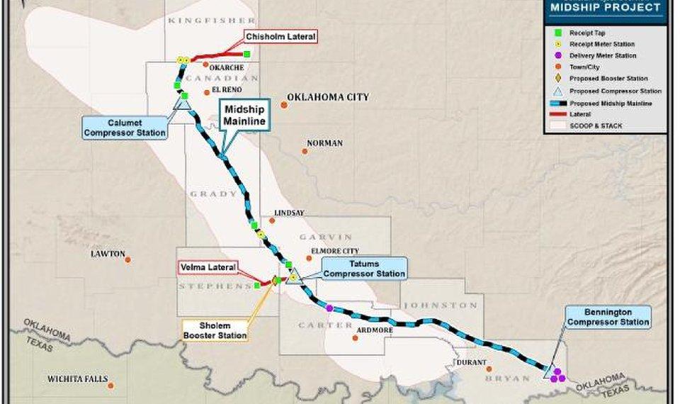 ENTRA IN ATTIVITA' IL NUOVO GASDOTTO MIDSHIP DI CHENERIE, TRA OKLAHOMA E GOLFO USA - Pipeline News -  - News
